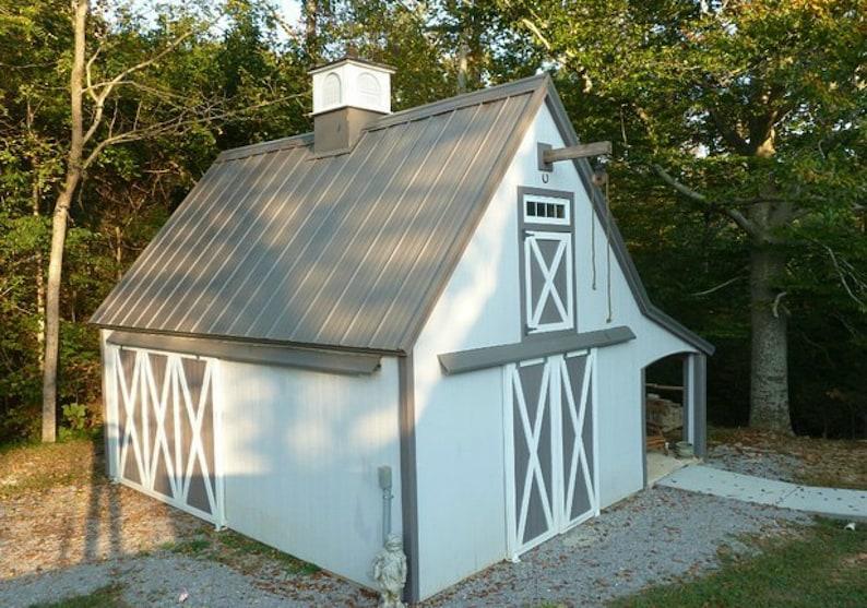 5 Mini Barn Plans Customizable Little Pole Barn Blueprints