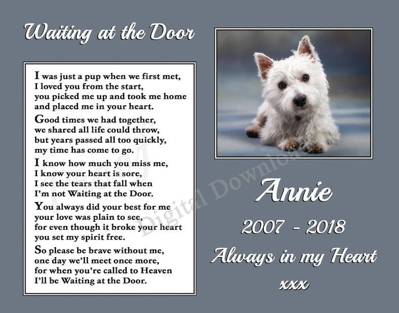 Labradoodle Dog Fridge Magnet  Pet loss Bereavement Memorial Gift