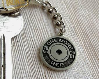 Fitness Key chain  Thank you Coach gift Gym Workout Bronze Fitness Weightlifting Powerlifting