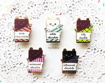 Choco Bar Bears | Kawaii Sweets & Desserts Animal Hard Enamel Pins