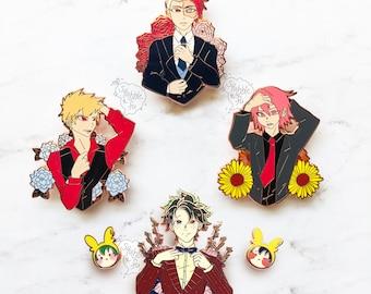Dapper BnHA Bois | Snazzy Formal Suit Hard Enamel Pins | Anime Hero UA Students | Handbag / Ita bag / Backpack Accessory