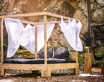 Four poster bed by code - unique furniture