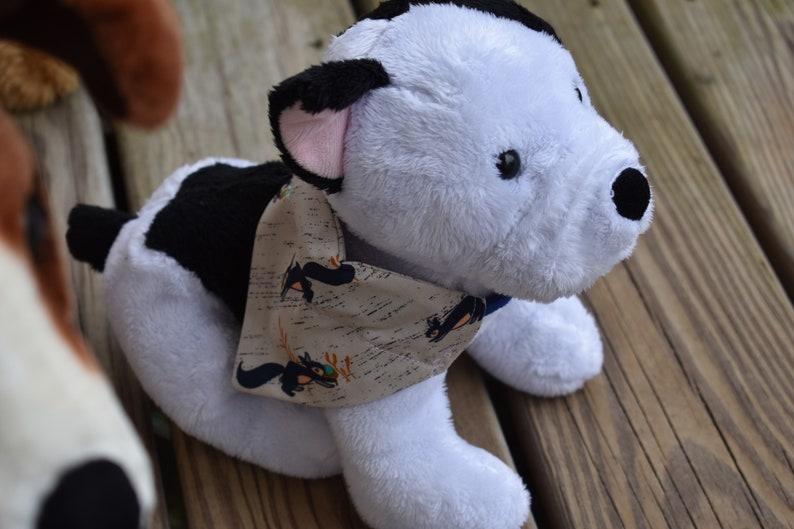 Tan Squirrel Print Dogdana Dog Bandana Dog Hankie