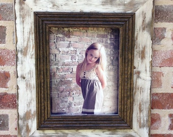 Sanded 11x14 rustic picture frame.