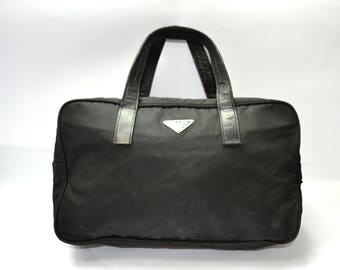40253f5ba3e FREE Shipping Prada Black Nylon Vela Medium Handbag Shoulder Bag  31  Authentic Black Good Vintage Condition