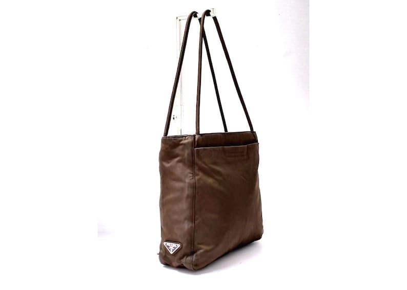 875b1f8fd25c Free Ship Prada Vintage Authentic Medium Handbag Shoulder Bag   Etsy