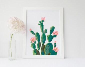 Cactus print Succulent printable art cactus wall art printable 8x10 16x20 succulent cactus wall art printable botanical art printable cacti