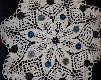 Velvet Star Doily Pillow