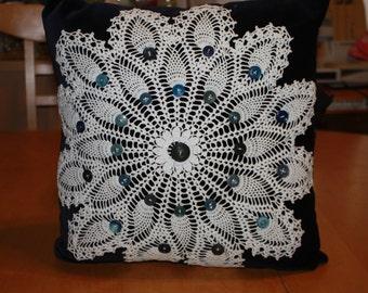 Velvet Pineapple Doily pillow