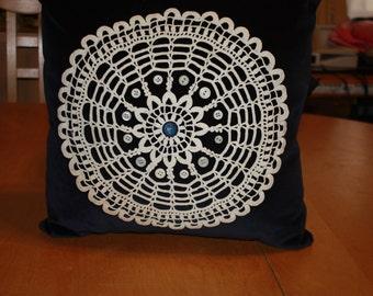 Velvet Circular Doily pillow