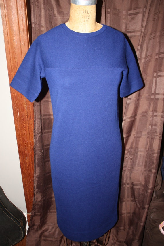 Navy Blue Goldworm Dress