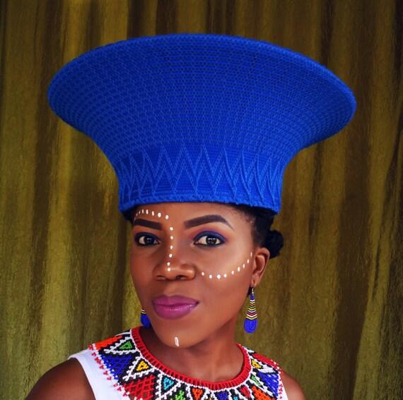 Medium and large Zulu basket hat  701ee8d1497