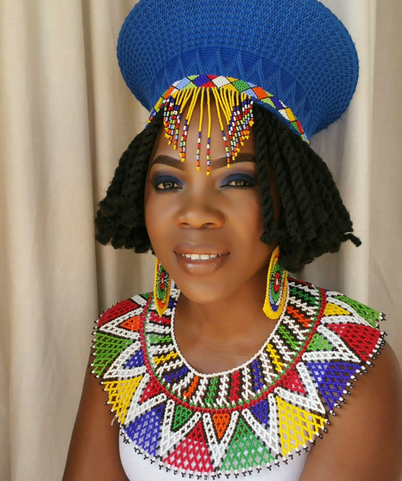 Zulu Traditional Wedding Attire Hat Earrings And Necklace Etsy