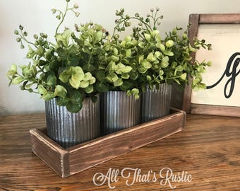 Norah Zinc Vases Rustic Metal Decor Home Table Farmhouse Wedding Centerpiece