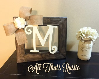 Rustic Tabletop Initial Frame, Initial Frame, Personalized Decor, Table  Decor, Picture Frame