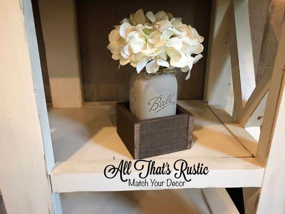 Single Mason Jar Centerpiece Mason Jar Centerpiece Wedding Etsy
