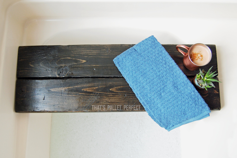 Ebony Double Plank Bath Tray Black Bath Shelf Bath Tray | Etsy