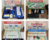 Lot of 4 Classic Monopoly Board Games Different Versions Classic Deluxe Vintage Lot of 4 games one low price