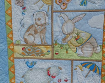 baby quilt, crib quilt, nursery decor, baby girl quilt, baby boy quilt, gender neutral quilt