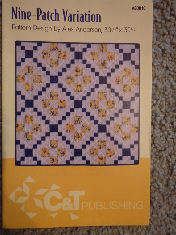 Quilt Pattern 9 Patch Quilt Pattern Baby Quilt Pattern Alex Etsy