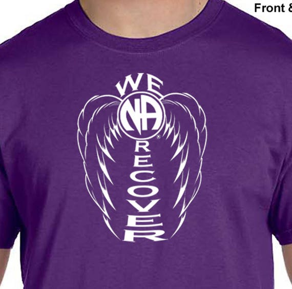 Purple  T-Shirt  2016 Giving Hand S-3X  cotton Narcotics Anonymous