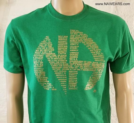 4 Color Option 100/% Cotton Narcotics Anonymous NA LIVE CLEAN  CAPPY T-Shirt