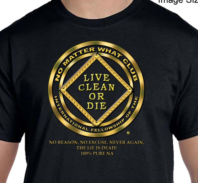100/% Cotton Select Your Color 100/% CLEAN T-Shirt Narcotics Anonymous