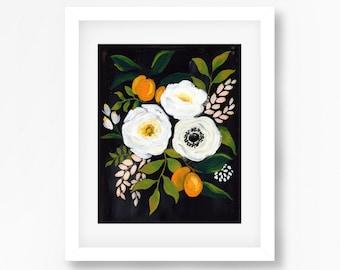Black and white kumquat Floral