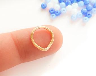 SALE - 16 g septum ring, septum 16g, 16 gauge nose ring, septum ring 16g, 16 gauge septum, Septum Ring, Triangle Septum