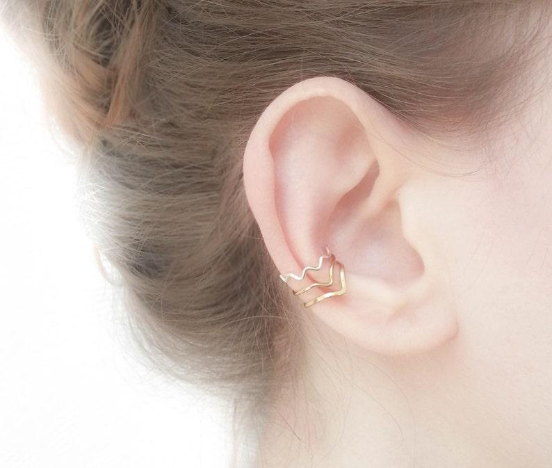 Ear Wrap Cuff Earring Wrap Earring Tiny Ear Cuff Chevron Ear Cuff SALE Gold Ear Cuff Silver Ear Cuff
