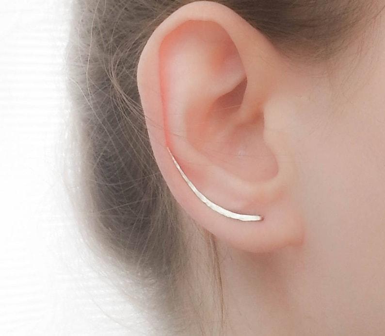 Sterling Silver Ear Climber Earrings  Ear Climbers  Silver image 0