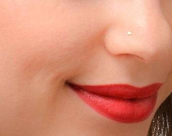 SALE - Tiny Nose Stud, Gold Nose Stud, Nose Stud, Tiny Nose Piercing, Simple Nose Stud, Dainty Nose Stud