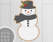 Cute Snowman Design - SVG...