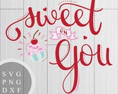 Sweet on You - SVG, PNG a...