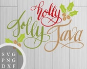 Holly Jolly Java -  SVG, ...