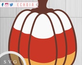 Candy Corn Pumpkin - SVG,...