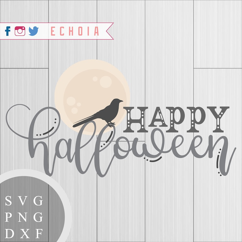 Happy Halloween  SVG PNG and DXF for Printing Cutting and image 0
