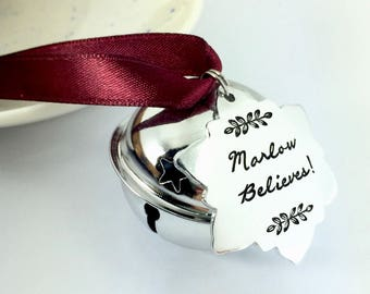 Personalised Santa Sleigh Bell | Tree Decoration | Xmas Eve Box | Christmas | Children's Names | Santa Claus | Rudolphs Bell