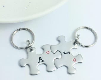 Personalised Mini Jigsaw Puzzle Piece KeyRings  4aba96cd03