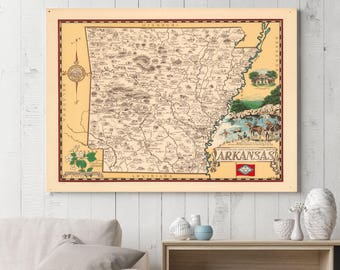 Arkansas Old Map| Arkansas Map| Old Maps| Old Map Poster| Map Art| Antique Maps| Vintage Maps| Arkansas Wall Art| Vintage Wall Map | AMC172
