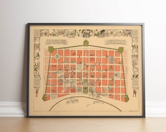 picture regarding French Quarter Map Printable referred to as French quarter map Etsy