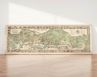 Arboretum enchanted night panoramic map cards offer original art