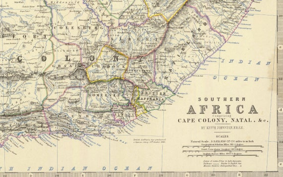 South Africa Map| Cape of Good Hope Map| South Africa Old Map| RSA Map|  Exploration Map| Old Maps| Africa Old Map| Wall Decor Old Map