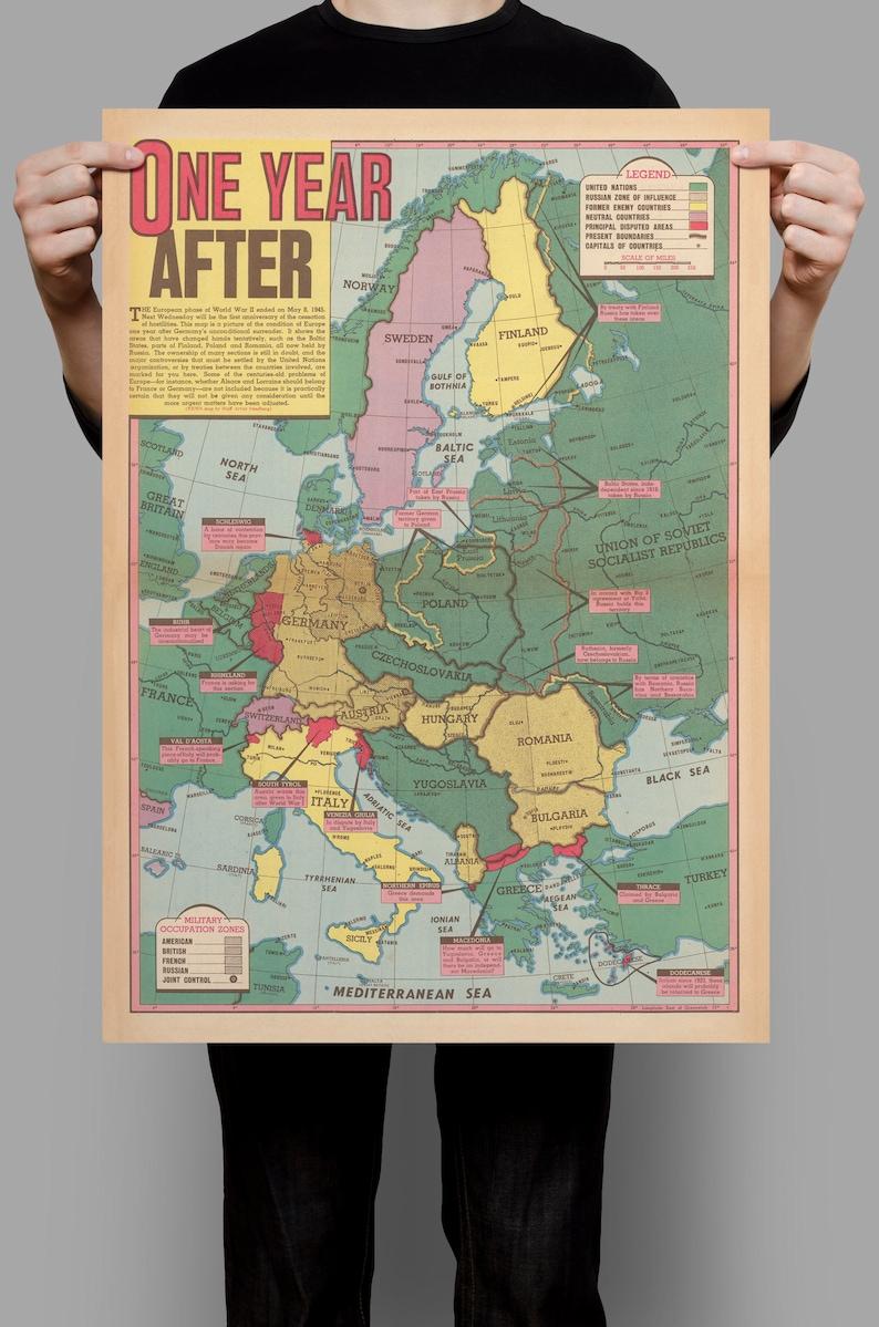 2 Weltkrieg Karte.Folgen Des 2 Weltkrieges Karte Dem Zweiten Weltkrieg Ww2 Alte Karte Leinwand Drucken Wand Dekor Ideen Alte Karte Posterdruck Home