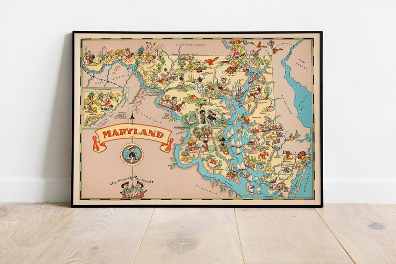 1935 Massachusetts Map Wall Art Massachusetts Map Print Framed Art Map Wall Prints Canvas Art Prints Wall Art Poster Art Art History