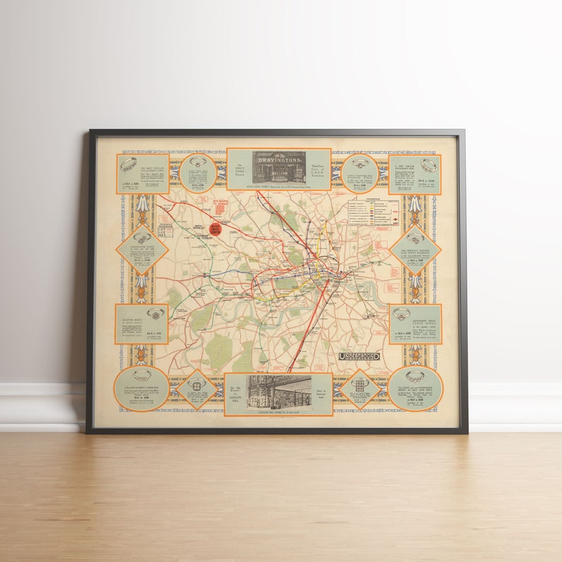 Map Of England Underground.Wembley Poster London Underground Map Old Map Poster Canvas Print Poster Art England Map Print Wall Decor Print Poster Vintage