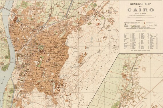 cairo egypt map