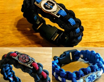 EMS/Fire/Police Paracord Bracelets