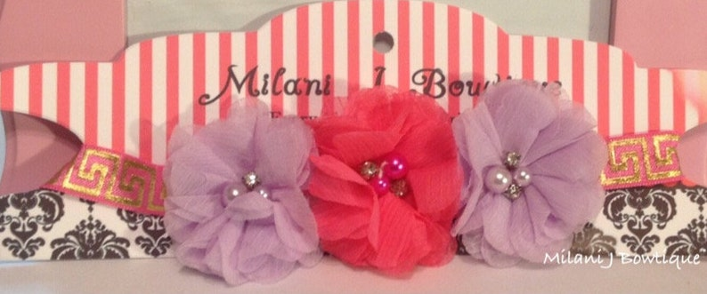 Lavender and Pink Flower Crown Headband; Baby Shower Gifts; Flower Girl Headpiece; Holiday Headbands