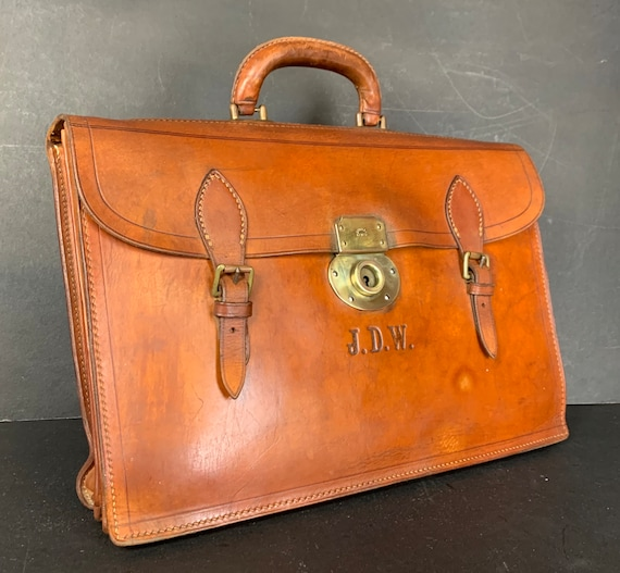 English Pendragon Quality Vintage Satchel Papworth